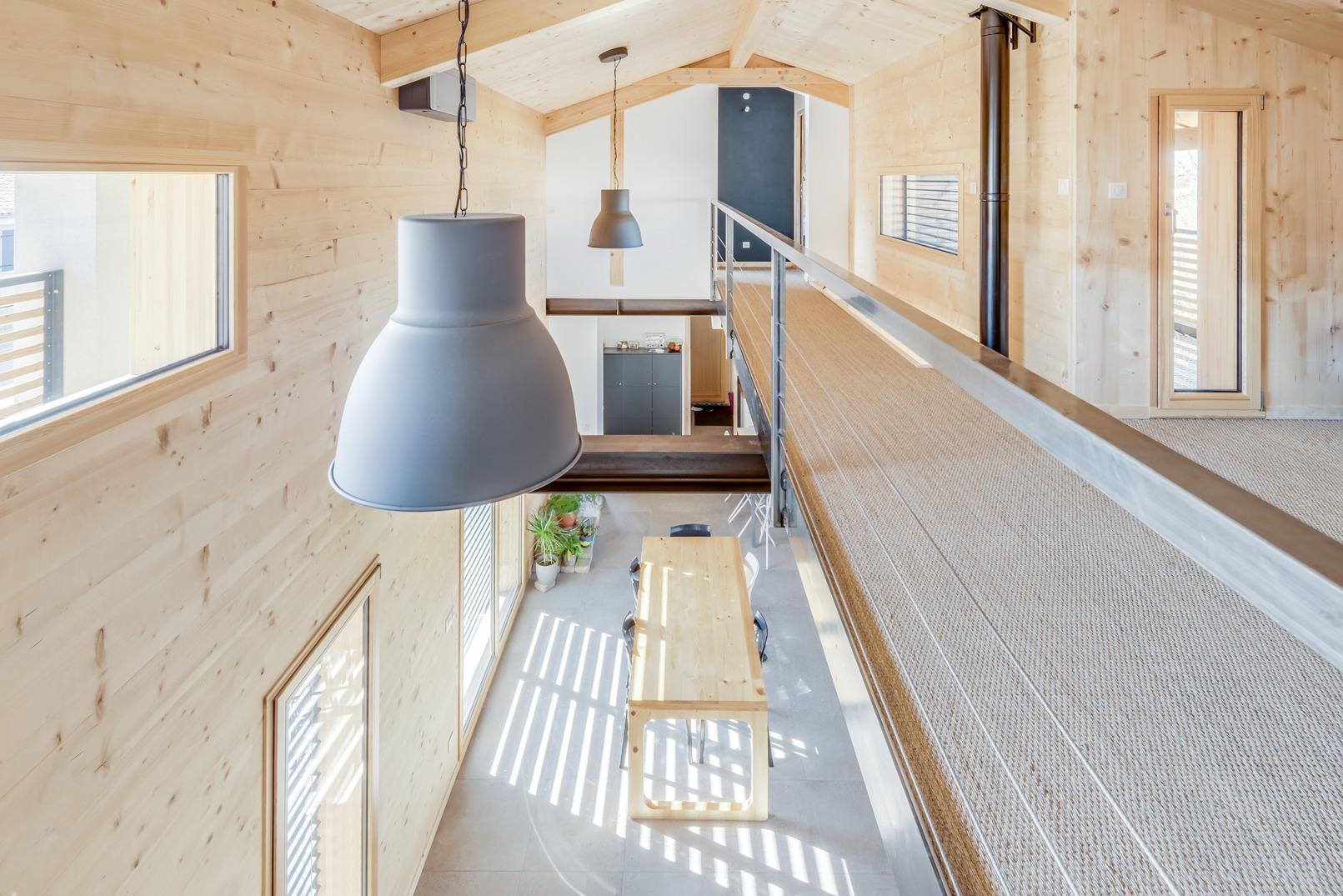 mezzanine maison bois CLT