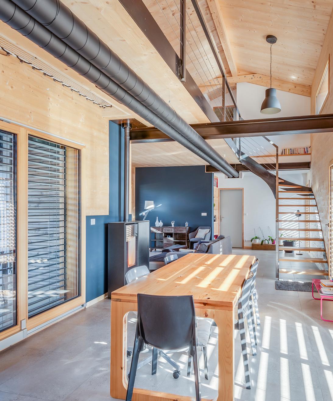 Maison bois design style industriel